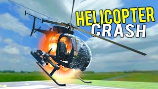 COMBAT HELICOPTER BLOWS UP MID AIR OVER RUNWAY! Explosive Hoverboard - Disassembly 3D Gameplay