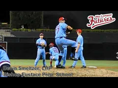 DEVIN SMELTZER, LHP, BISHOP EUSTACE PREP SCHOOL, PITCHING MECHANICS AT 200 FPS - 08/16/2013
