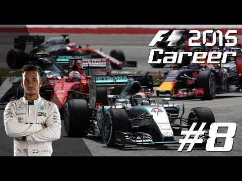 F1 2015 LEWIS HAMILTON Career Mode - PART 8 BRITISH Grand Prix!