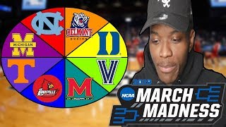 SPIN THE WHEEL OF MARCH MADNESS COLLEGES IN NBA 2K19