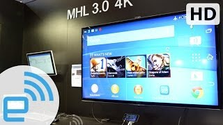Silicon Image's MHL 3.0 demo | Engadget at MWC