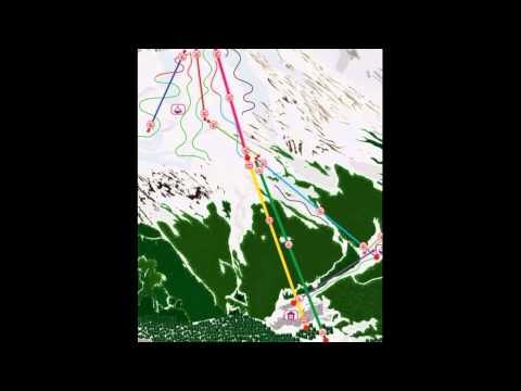 Схема горнолыжных трасс Домбая
