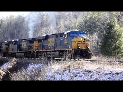 CSX Trains on former Clinchfield, Spruce Pine, NC