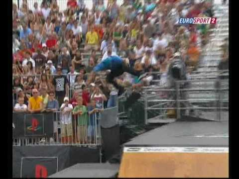 ryan sheckler crash @ dew tour 2008