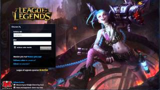 League of Legends - Jinx Giriş Ekranı