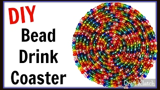 Glam Bead Drink Coaster | Easy DIY Project | Another Coaster Friday | Craft Klatch | How To