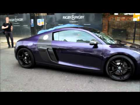 Purple Audi R8 With Tubi Stage 3 Exhaust! INSANE SOUND!!!