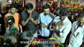 Celebs Pays Last Respect For ‎Santhanam‬'s Father