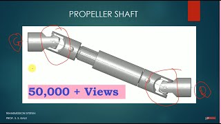 Propeller Shaft, Universal Joint