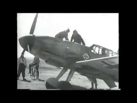 Messerschmitt Bf 109 - High Quality B&w Film Footage Of The Deadly Successful Nazi Bird Of Prey video