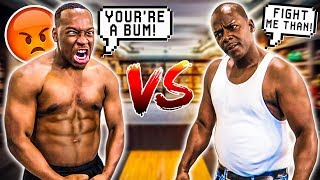 1 VS 1 AGAINST TRASH TALKER!! LOSER HAS TO SHAVE THEIR HEAD 😱😳😨