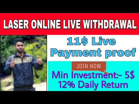Laser.online live withdrawal payment proof of 11$ | Workwithdileep | [ hindi ]