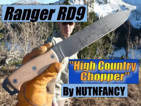 Ranger RD9 Survival Knife: High Country Chopper Video