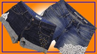 10 best DIY hacks for your old clothes  Making fashionable jean shorts  Tips and Tricks