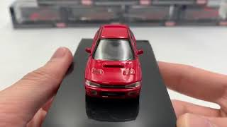 Hobby Japan 1:64 SUBARU IMPREZA WRX (GC8) Active Red (HJ641013R) diecast model