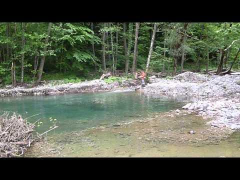 Ловля форели на реках Кавказа (Trout Catching On The Rivers Of The Caucasus) Часть 1