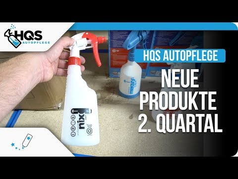 HQS Autopflege - Neue Produkte im 2. Quartal 2018