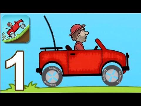 Hill Climb Racing - Gameplay Walkthrough Part 1 - Jeep (iOS, Android)