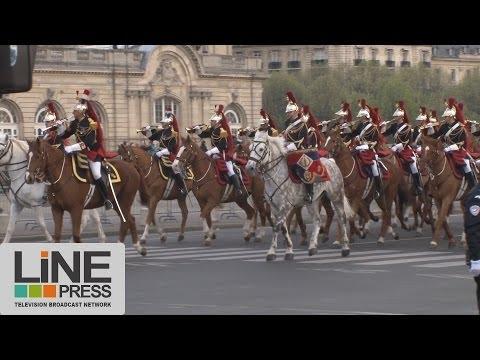 Arrivée du président chinois Xi Jinping à Paris / Paris - France 26 mars 2014