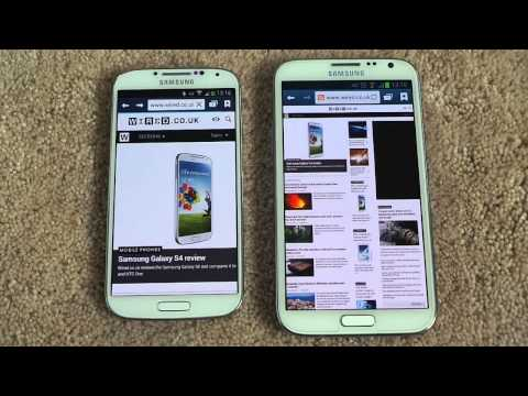 SAMSUNG GALAXY S4 VS SAMSUNG GALAXY NOTE 2 BROWSING SPEED COMPARISON