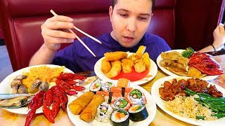 Legendary All You Can Eat Chinese Buffet • MUKBANG