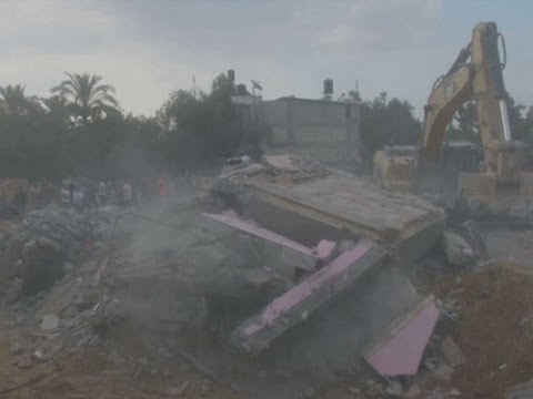 Raw: 25 Family Members Killed in Gaza Airstrike