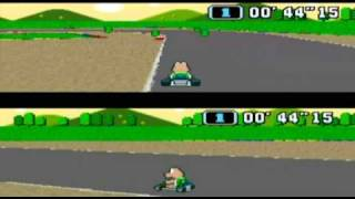 Super Mario Kart SNES Time Trial Mario Circuit 1 - Wii [Virtual Console]