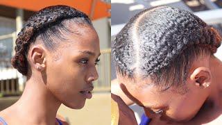 Slick 2 Braids on my Sister's Hair!   Type 4 Natural Hair