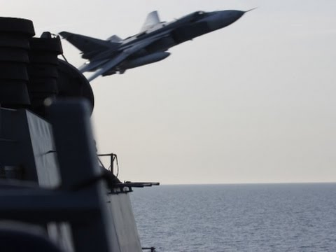 Russian Jets Fly Low Over US Navy Ship
