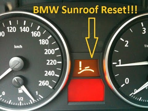 Sunroof won't close! No Problem! Reset your BMW sunroof!!