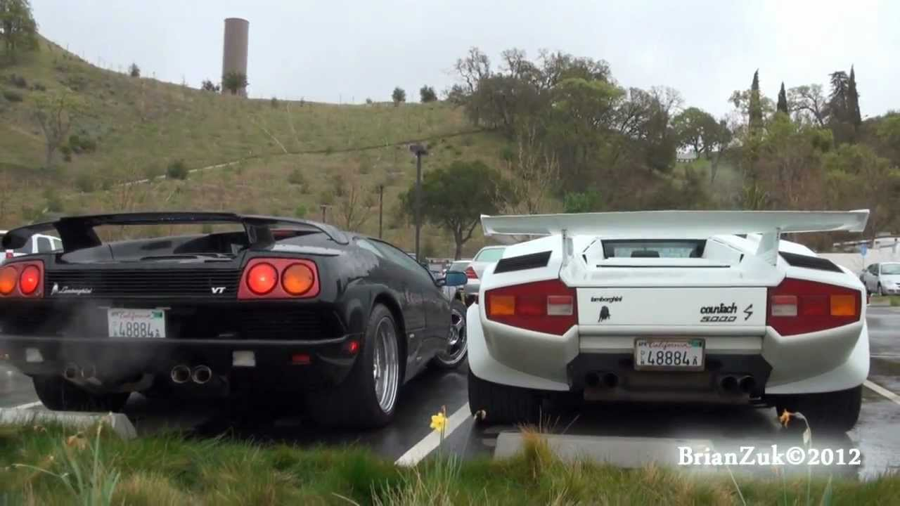 Lamborghini Countach Lp5000 S And Diablo Vt Youtube