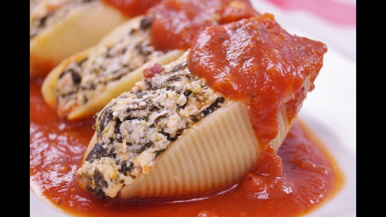 Stuffed Shells Recipe Pasta Shells Stuffed With Cheese