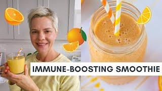 Immune-Boosting Banana Orange Banana Smoothie (Vegan & Dairy-Free)