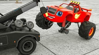 Monster Machine Learn Colors Blaze Assembly tire. Street Vehicle choose Wrong Parts for Kids