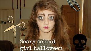 Scary school girl halloween look