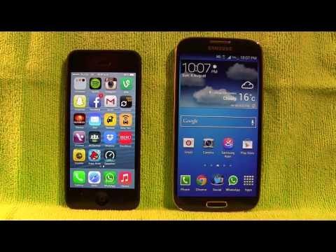iPhone 5 vs Samsung Galaxy S4!!! El mejor