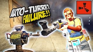 AUTO TURRET RAID FAIL! - Rust SOLO Survival Gameplay