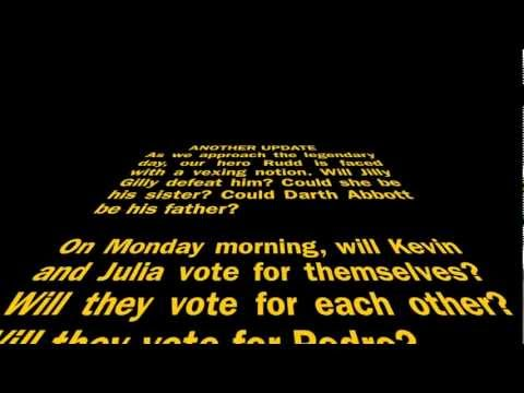 Kevin Rudd NEWS UPDATE STAR WARS PARODY PART 2