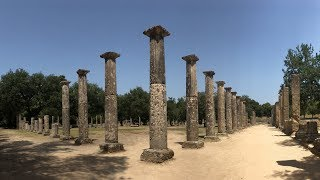 Road trip through Greece - Ancient Olympia - archaeological museum and site