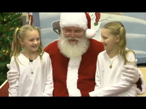 Santa Helps Soldier Surprise his Sisters