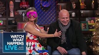 Amy Sedaris & Tom Colicchio Shove Food In Their Mouths | WWHL