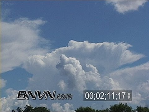 6/13/2005 Time Lapse Storm Clouds Growing Video