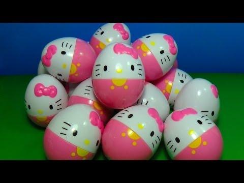 18 Hello Kitty surprise eggs!!! HELLO KITTY HELLO KITTY HELLO KITTY!