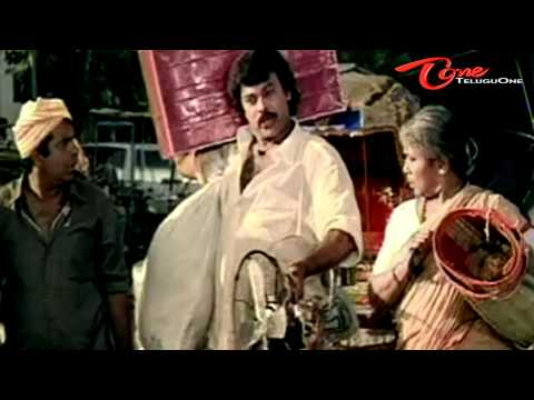 Chiru Gives Punishment To Brahmanandam - Funny Scene