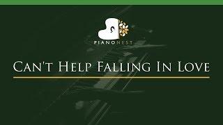 Can 39 T Help Falling In Love Lower Key Piano Karaoke Sing Along