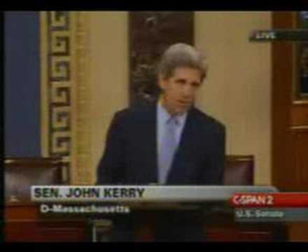 John Kerry Speaks on the Senate Floor about Iraq Resolution