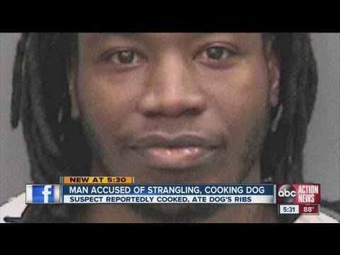 Tampa man accused of strangling, cooking family dog