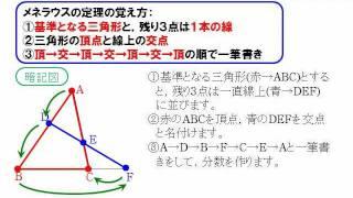 メネラウスの定理の覚え方 08:46