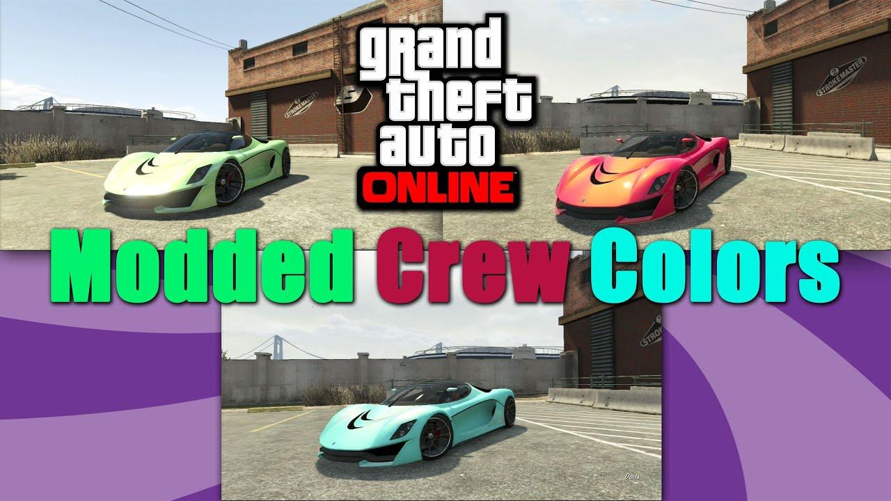 Gta Online Crew Colors Gta 5 Online Modded Crew