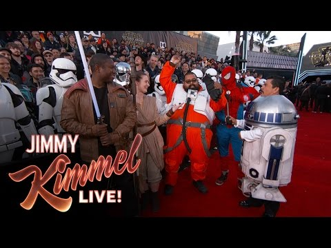 Guillermo at the Star Wars Red Carpet